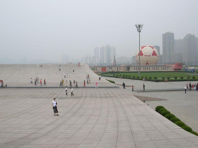 Площадь Синхай. Город Далянь.