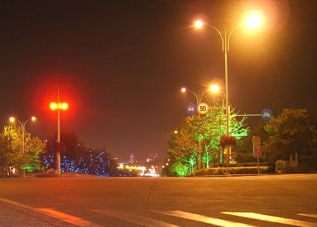 Ночной Бэйдайхе. Фото.