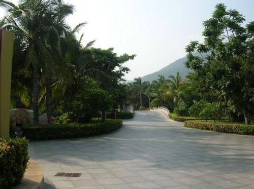Парк на территории отеля в бухте Ялунвань. Хайнань