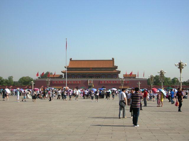 Площадь Тяньаньмэнь. Пекин