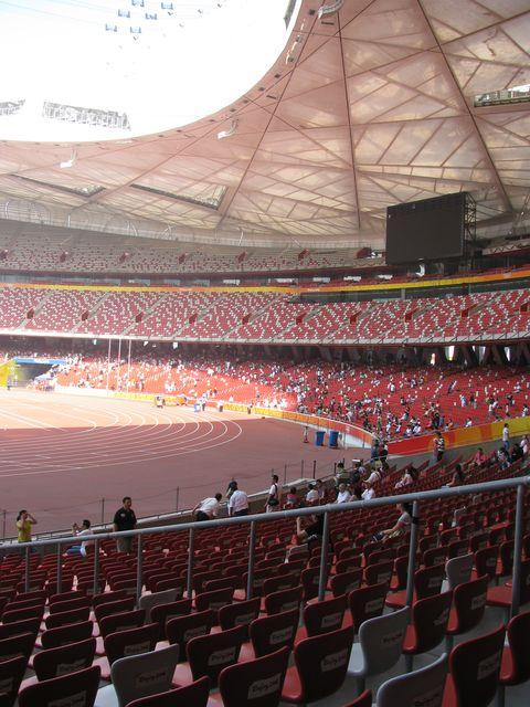 Трибуны стадиона Птичье гнездо. Пекин