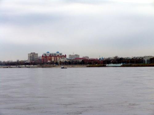 Вид на город Благовещенск с Хэйхэ