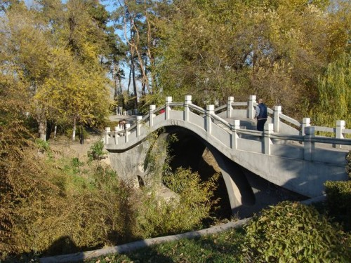 Мост в парке г.Хэйхэ