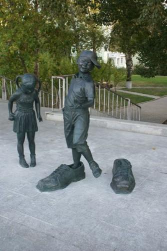 Скульптуры в парке г.Хэйхэ