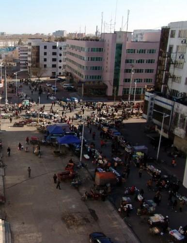 Утренний уличный рынок в г.Хэйхэ