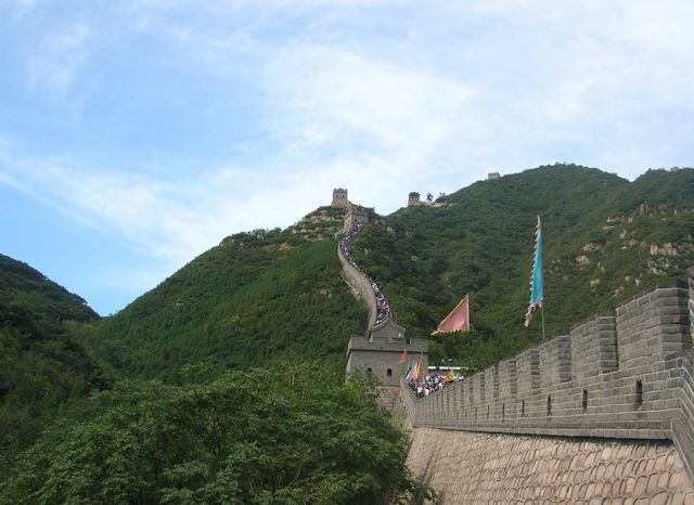 Один из самых крутых участков на стене Цзюйюнгуань