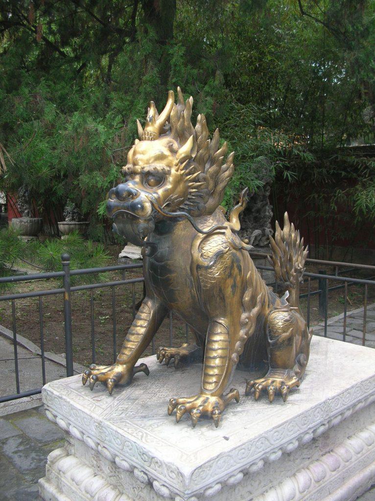 Дракон в Императорском саду Запретного города