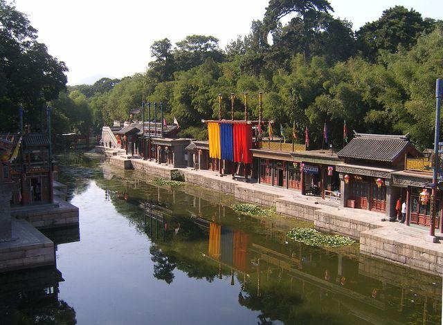 Торговая улочка Сучжоу бывшие дома прислуги. Пекин
