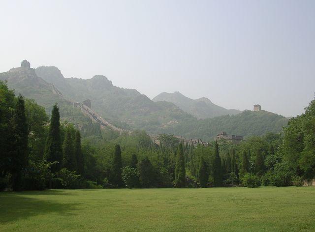 Великая китайская стена на горе Цзяошань