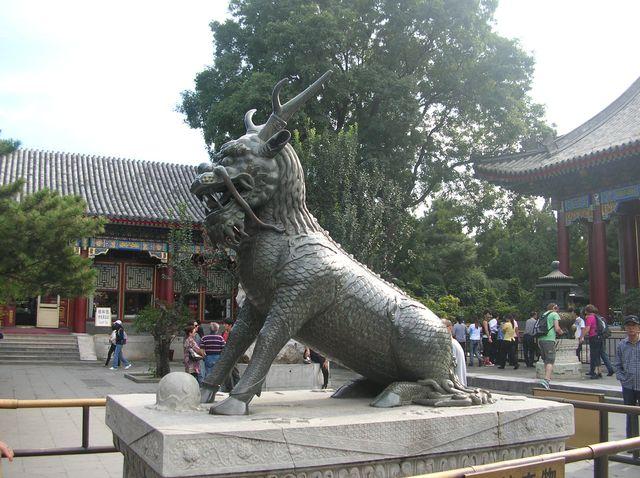 Дракон-защитник в Летнем императорском дворце