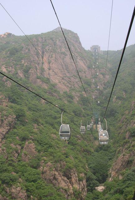 Самый крутой участок канатной дороги ведет к монастырю на вершине горы