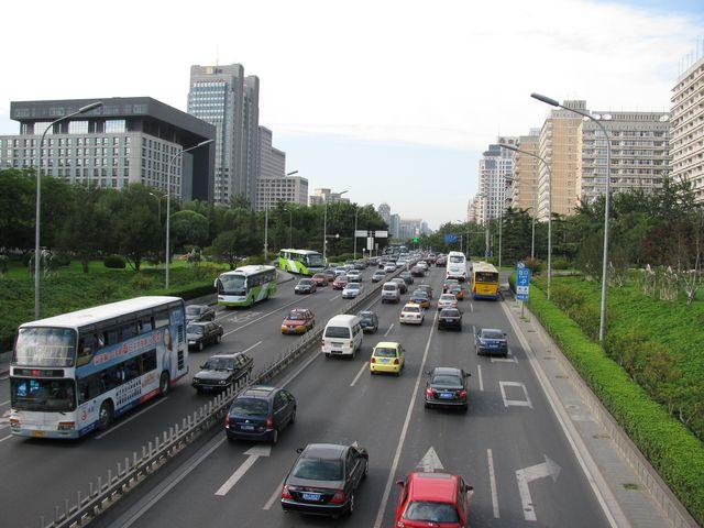 Дорога в Центре Пекина