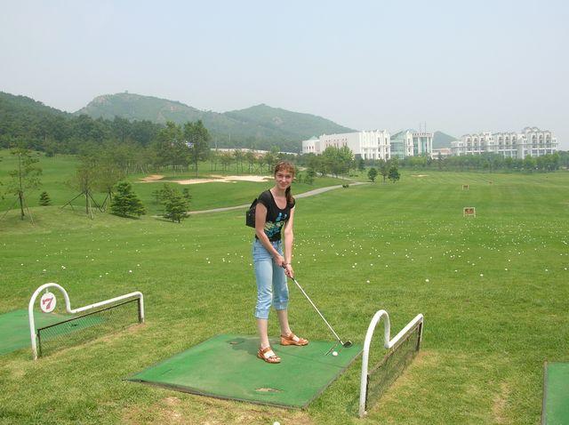 Поле для гольфа в районе Цзиньшитань