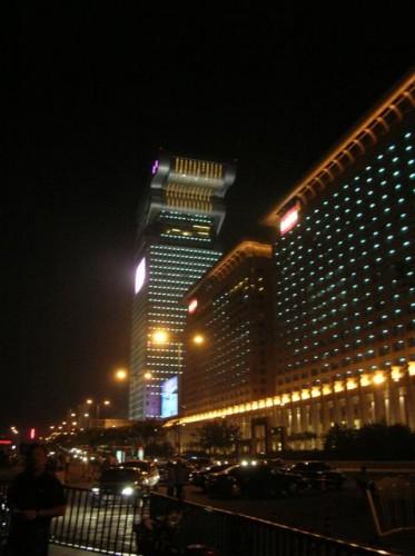 Здание гостиницы на Олимпийской площади в Пекине