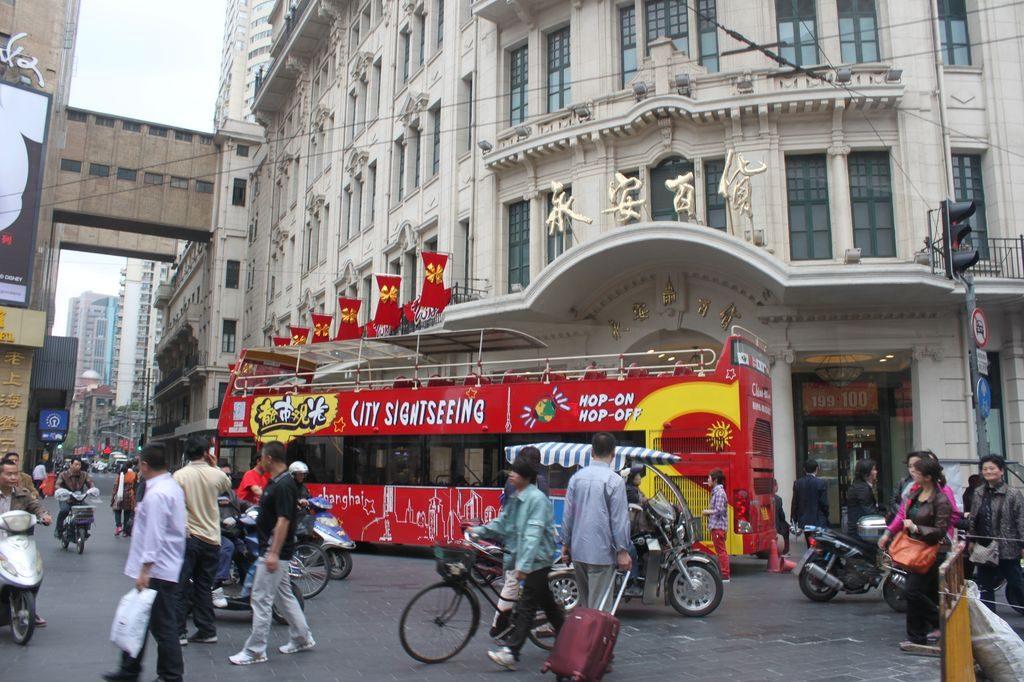 Экскурсионный автобус. Шанхай