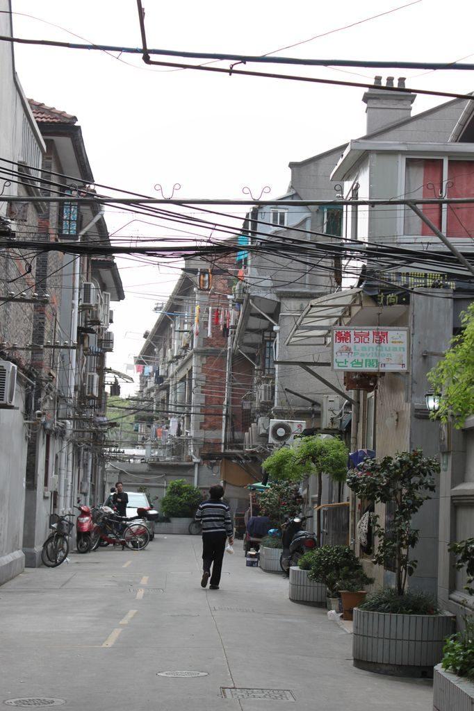 Жилые районы в центре Шанхая