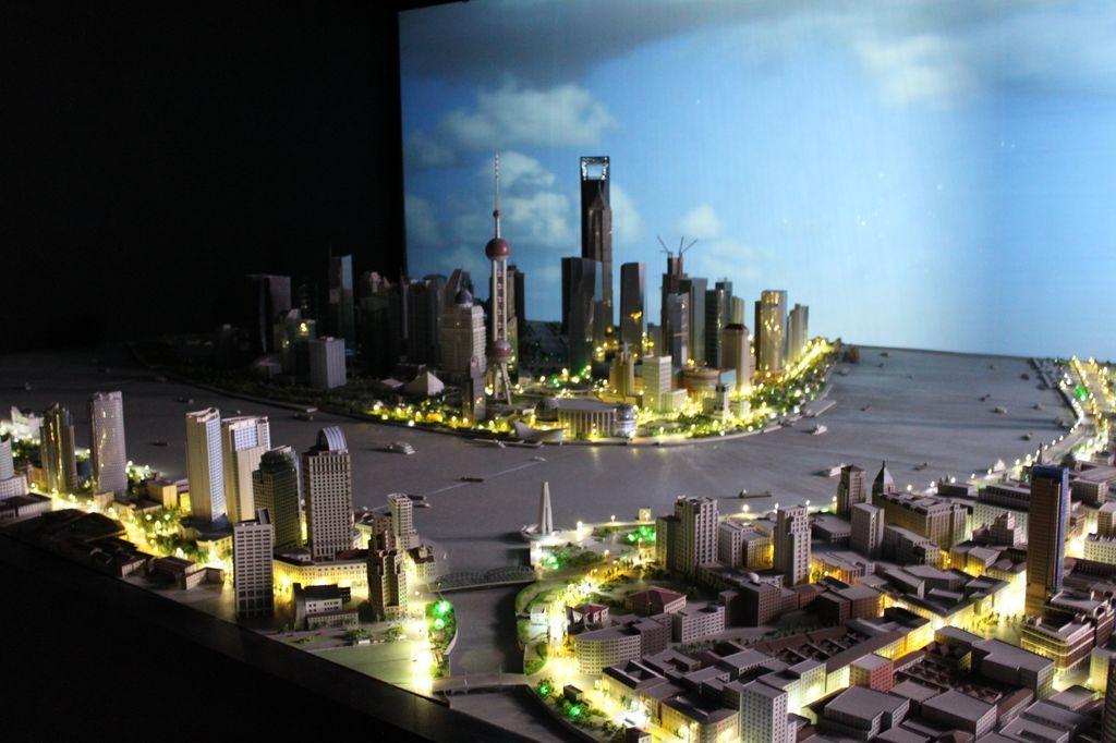 Макет города Шанхай