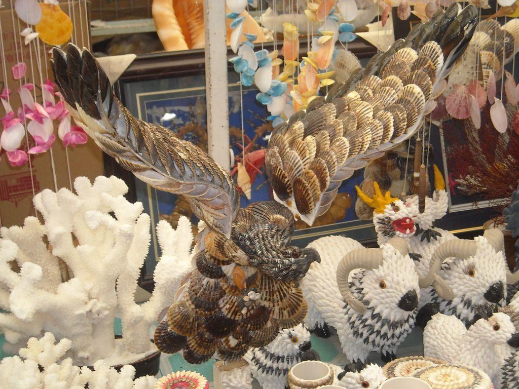 Орел из ракушек, город Бэйдайхэ