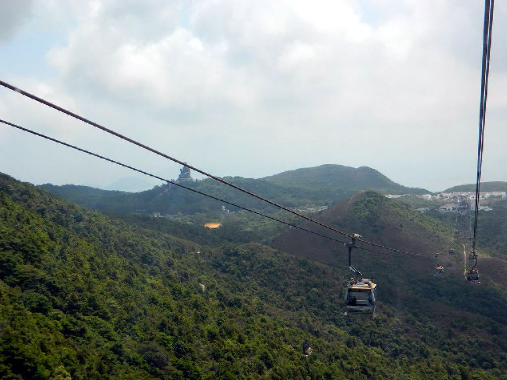 Вид с канатки на Большого Будду. Гонконг