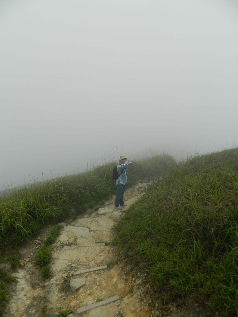 Туманище на вершине пика Лантау