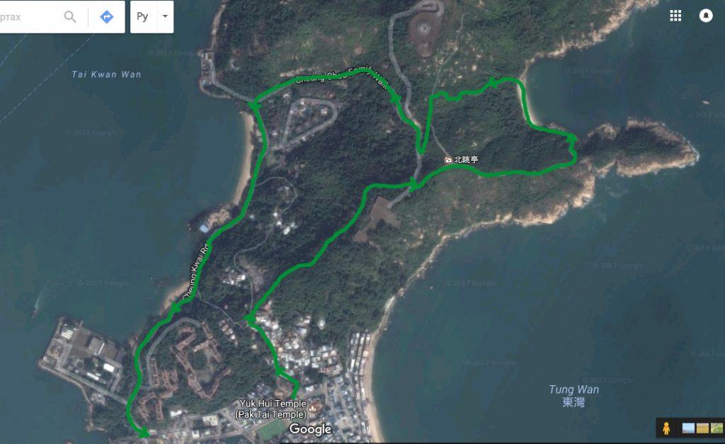 Карта путешествия по Cheung Chau Family Walk, Гонконг