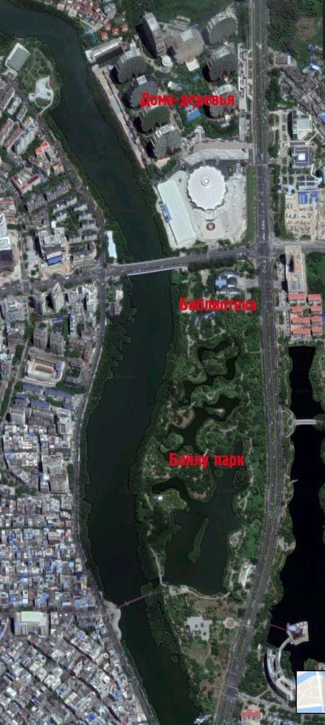 Байлу парк на карте. Хайнань