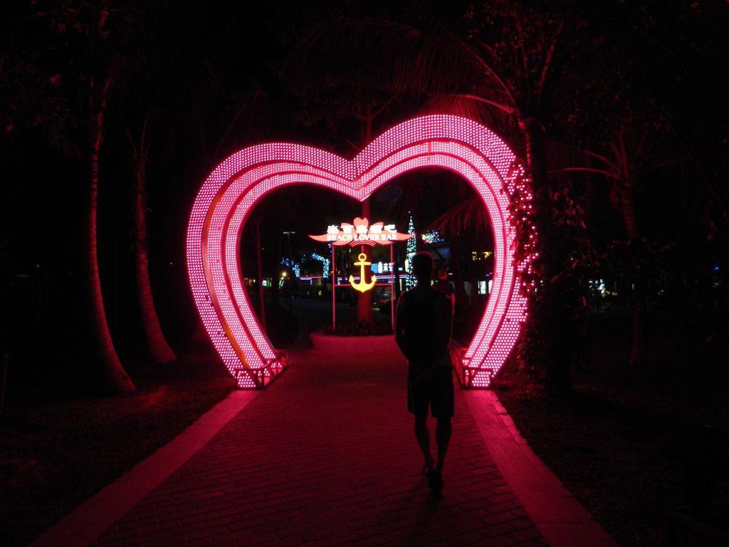 Набережная в Дадунхай ночью, Хайнань