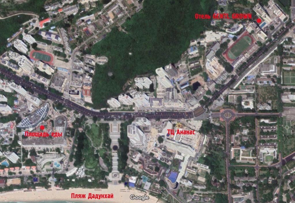 Расположение отеля  Gentl Grown Sanya Seashore на карте, Хайнань