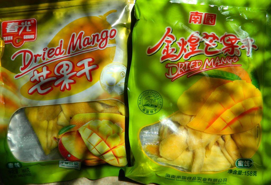 Сушеные манго с Хайнаня