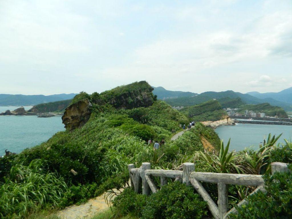 Маршрут на смотровую площадку в Yehliu Geopark, Тайвань