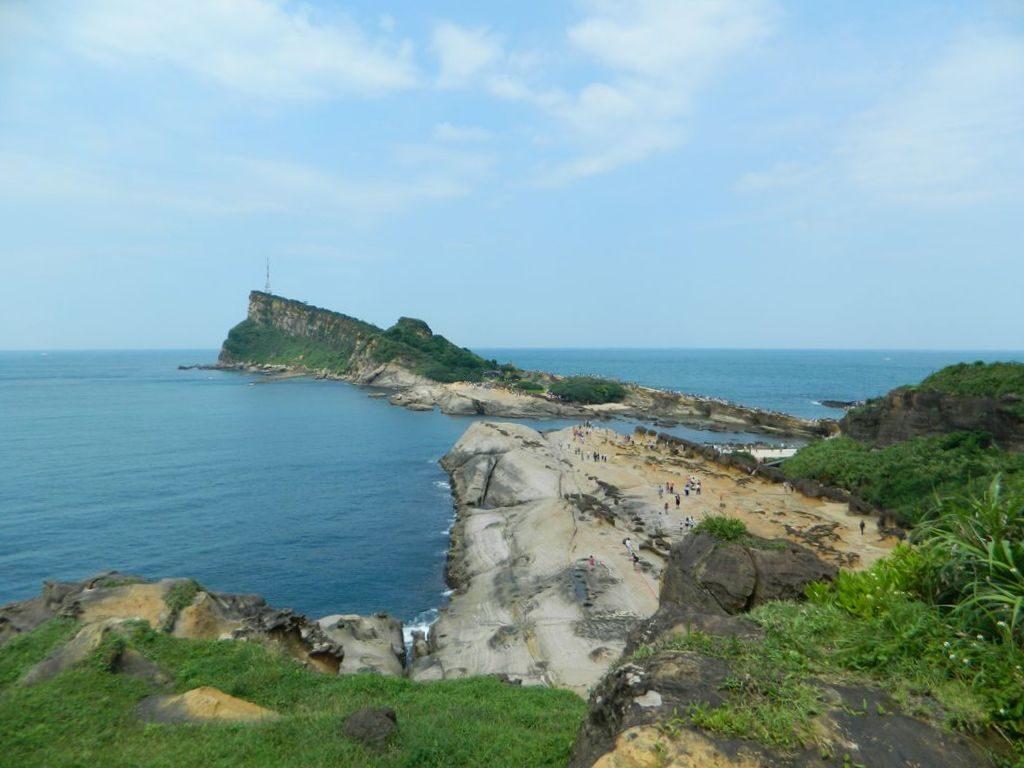 Вид на геопарк из беседки, Тайвань