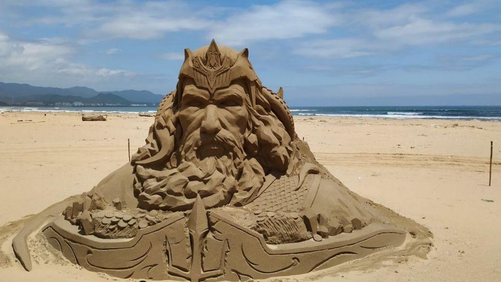 Фестиваль песчаных скульптур на пляже Фулонг, Тайвань