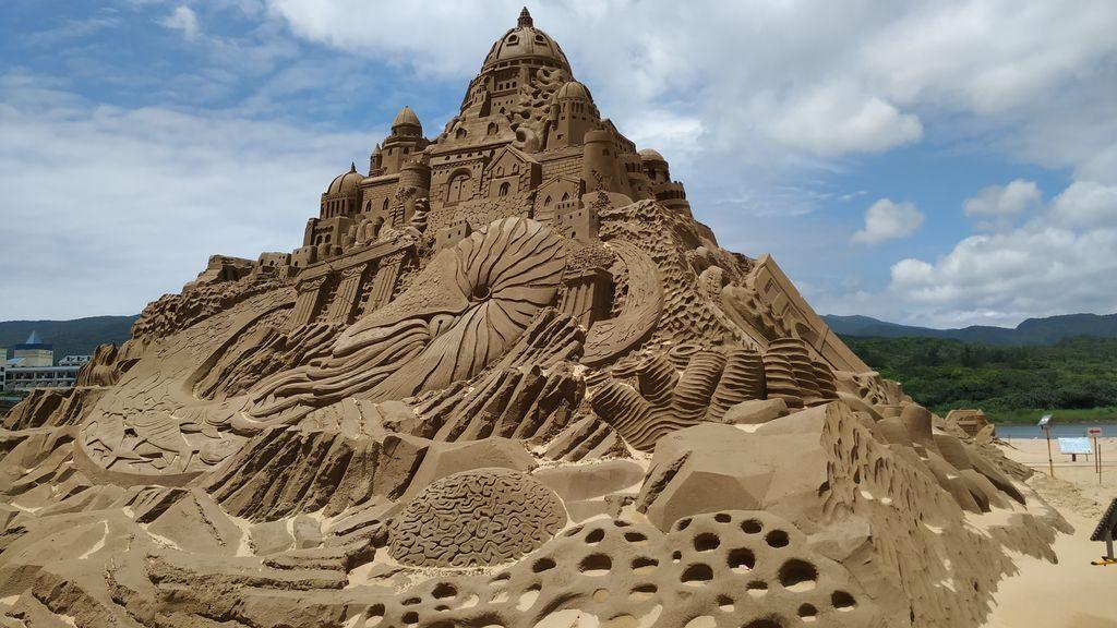 Песчаный город на пляже Фулонг, Тайвань