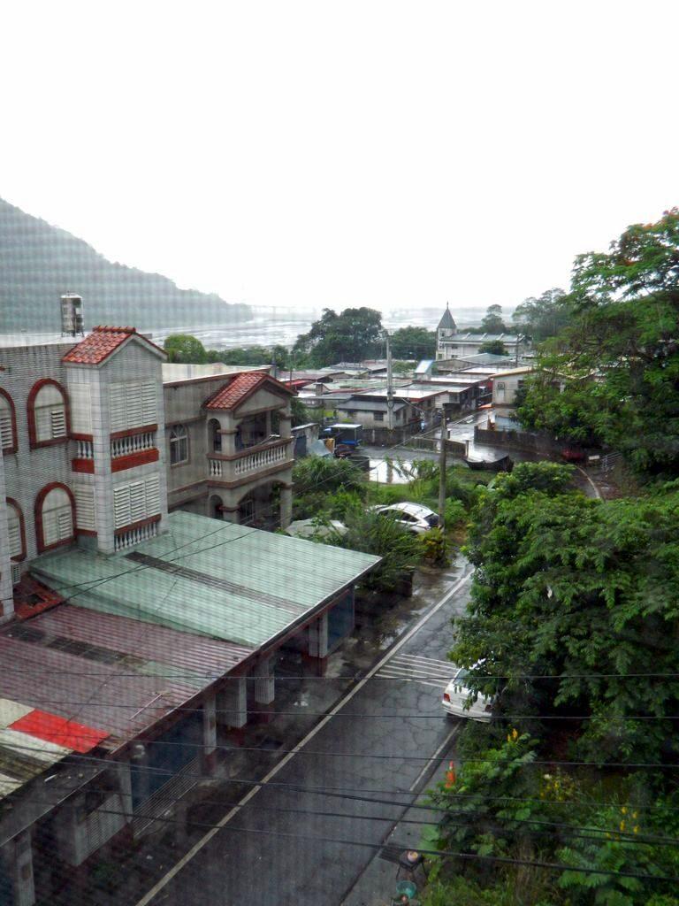 Вид из окна отеля в Тароко, Тайвань