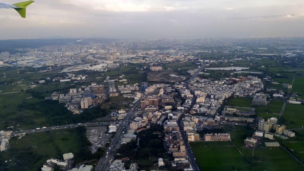 Тайвань с самолёта