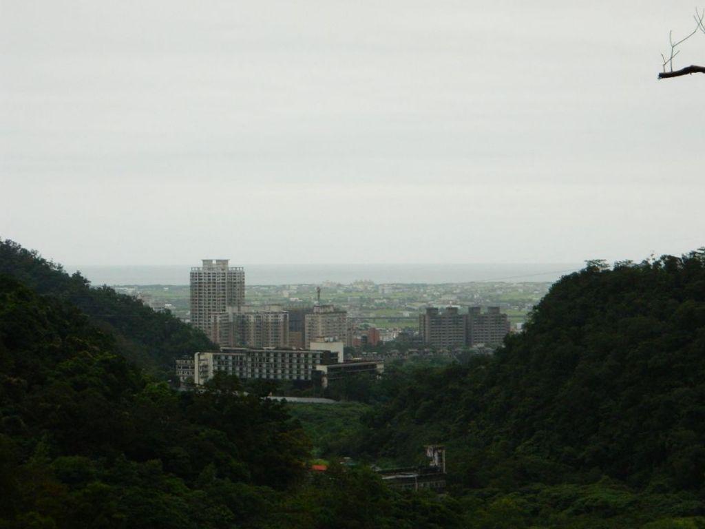 Вид на город Илань, Тайвань