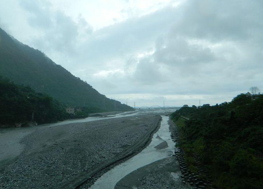Река Liwu в национальном парке Тароко, Тайвань